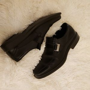 ecco buckle loafers size 41/ 9.5